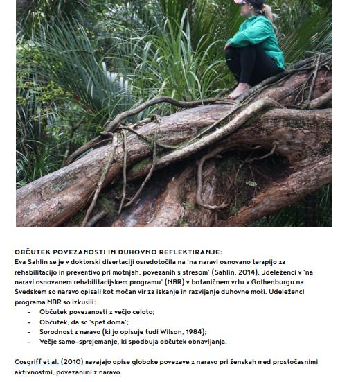 učinki gozdne terapije